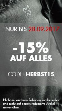 -15% auf ALLES mit dem Code HERBST15