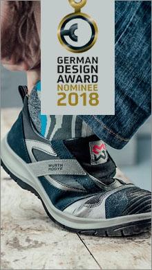 German Design Award : eichter und praktischer Sicherheitsslipper in Grau mit dynamischen Design