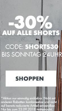 30% auf alle Shorts - jetzt sparen