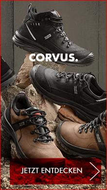Corvus Schuhe: Robuste Sicherheitsschuhe und Arbeitsstiefel aus hochwertigem und strapazierfähigem Nubuk-, Velours- oder Volllder