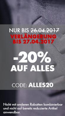 -20% auf ALLES mit dem Code ALLES20