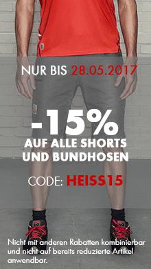 -15% auf alle Bundhosen und Shorts