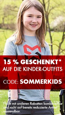 15 % GESCHENKT* auf die Kinder-Outfits - Rabattcode: sommerkids