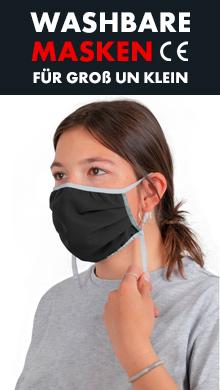 Washbare Masken zertifiziert CE