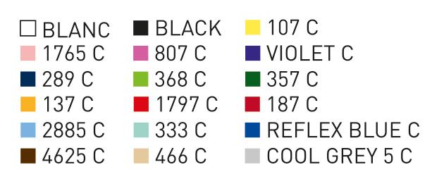 Colores Pantone para la personalizacion