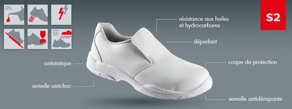 chaussures de travail blanchâtre